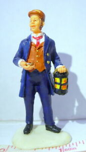Lemax Train Station Conductor with lantern  vintage 2000 Figurine