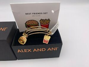 NEW Alex and Ani INITIAL M Shiny Gold Charm Bangle Bracelet NWT /& BOX