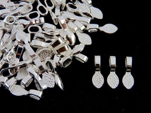 25 Pcs Tibetan Silver Glue on Bails 16mm Pendant Cabochon Findings O62