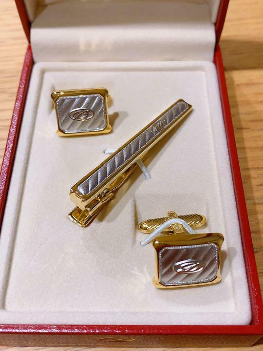 ST Dupont Dupont tie pin and cufflink set japan first shipping