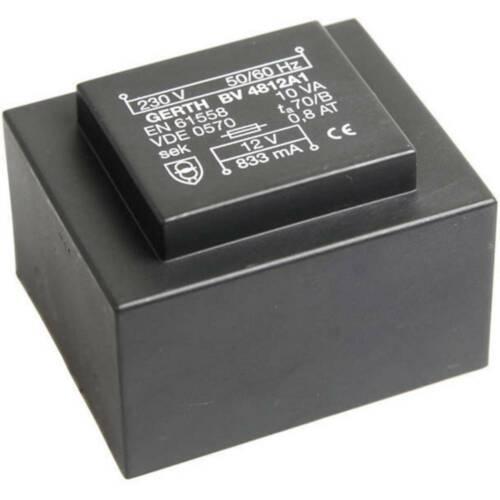 Gerth PT481501 Printtransformator 1 x 230 V 1 x 15 V//AC 10 VA 666 mA