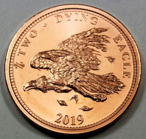 """2019 Dying Eagle Zombucks /""""Currency of the Apocalypse/"""" 1 oz Fine Copper Round"""