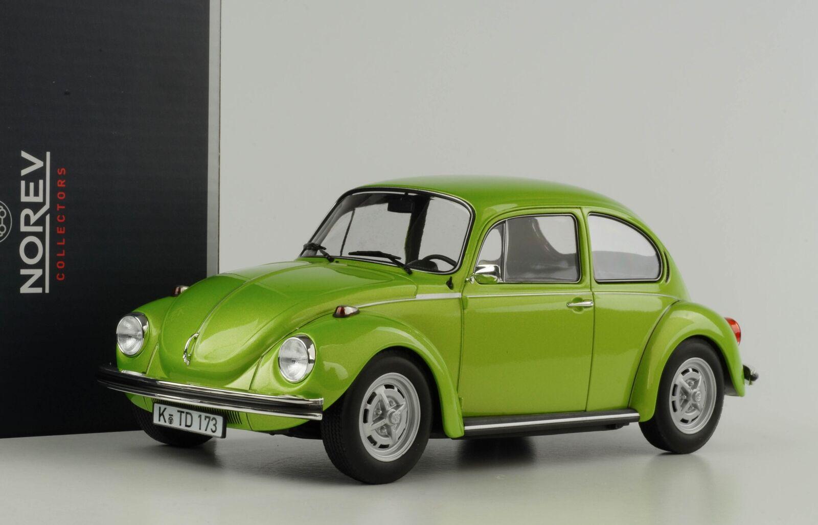 VW Beetle Beetle 1303 Volkswagen 1972 vert métallisé 1 18 Norev Neuf 188523