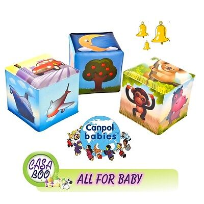 Canpol Rattle Educational cube with jingle bell 0m+