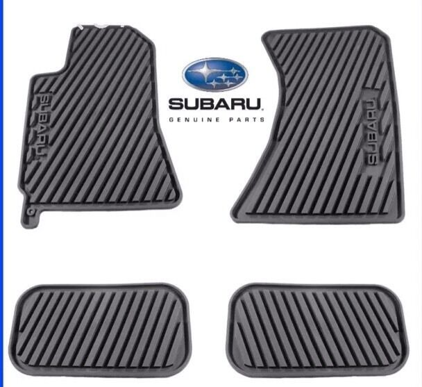 Subaru Forester 2015 All Weather Floor Mats Black
