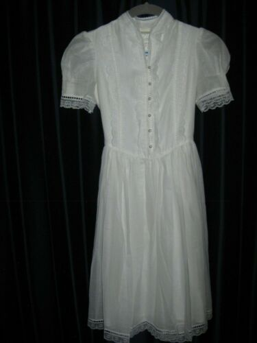 Gunne Sax White Dress Girls Size 12 Pre-Owned - image 1