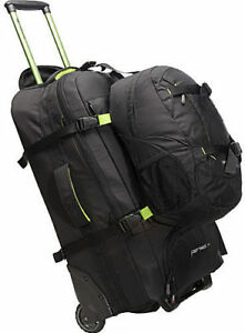 Image is loading New-Caribee-Wheeled-Backpack-Fast-Track-Luggage-Travel- 519ef9a3fb44b