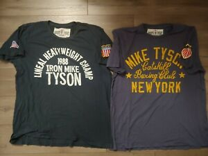 LOT-OF-2-ROOTS-OF-FIGHT-BLOODLINES-XL-SHIRTS-MIKE-TYSON