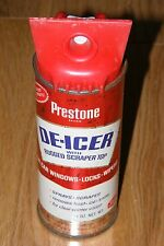 Vintage Union Carbide Prestone De-Icer RED Tin Litho Can Garage/Man Cave Display