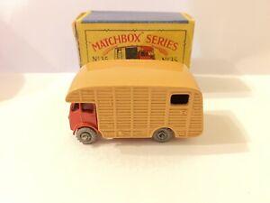 Matchbox-Lesney-No-35a-ERF-Marshall-Horsebox-Mk-7-Serie-Moko-En-Caja