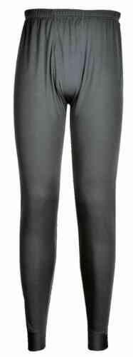 Portwest B131 uomini Leggings termici strato base poliestere LONG JOHNS Underwear