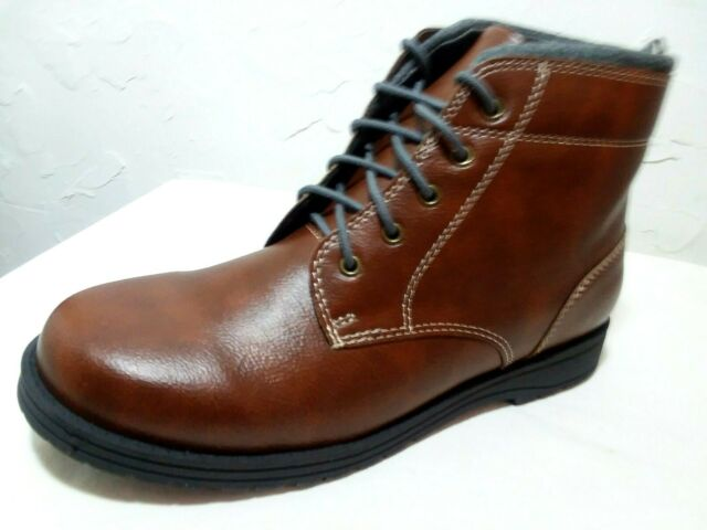 """6 HI-RIDE SHOES BROWN-FAUX LEATHER WONDER NATION /""""CLOSEOUT/"""" BOYS YOUTH Sz 1 5"""