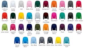 Sweat-shirt-sans-capuche-AWDIS-homme-280gr-top-qualite-et-plus-de-30-couleurs