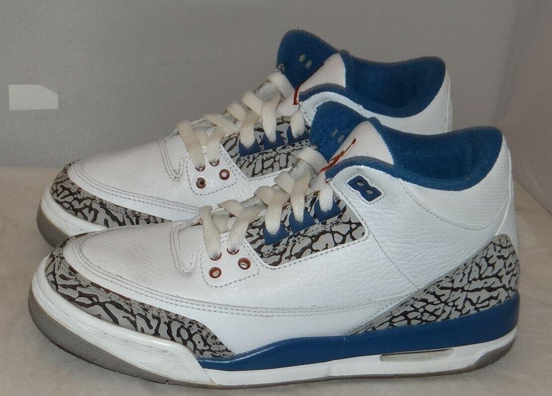 Jordan 3 en azul tamaño Air 5.5 398614 104 3031