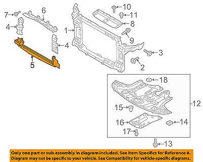 HYUNDAI OEM 12-16 Veloster Radiator Core Support-Upper Baffle 291352V500