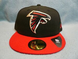 New-Era-59fifty-Atlanta-Falcons-2-Tone-BRAND-NEW-Fitted-cap-hat-Black-NFL-ATL