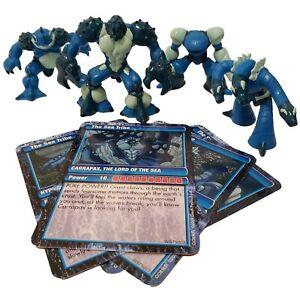 Gormiti-Sea-Tribe-Series-2-Lot-Of-4-With-Cards-Lord-Carrapax-Giochi-Preziosi