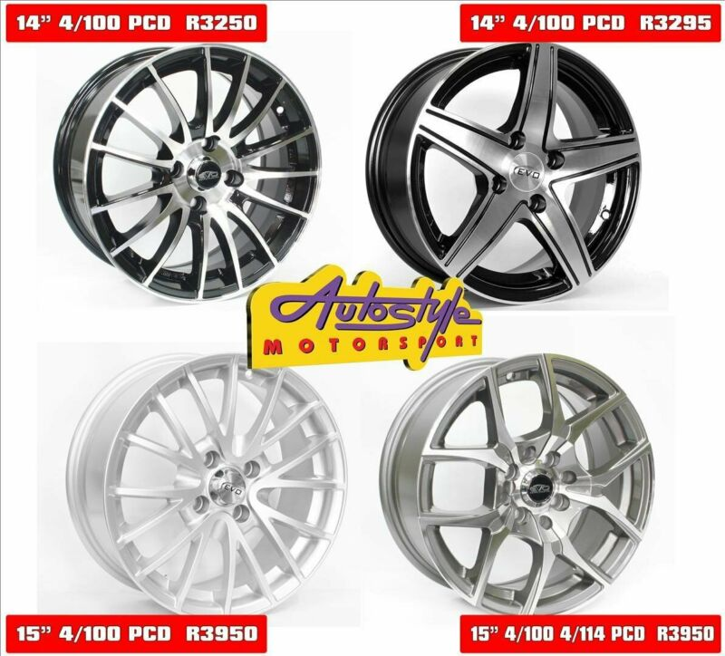 brand new alloy rims 14 inch mags from R3495 set of 4 and 15 inch mags from R3695 set of 4 other des