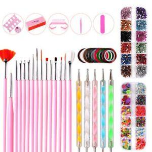 Pro-Acrylic-Nail-Art-Tool-Kit-Set-Powder-Nail-Sticker-DIY-Set-Pump-Nail-Brush-UK