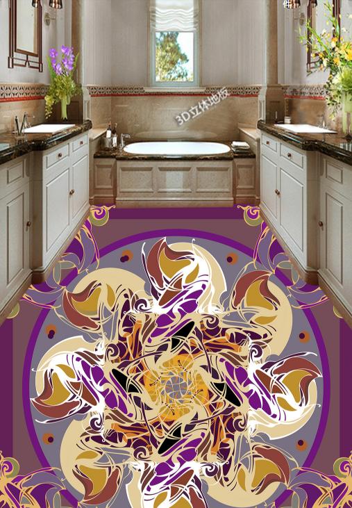 3D Round Flower Pattern 795 Floor WallPaper Murals Wall Print Decal 5D AU Lemon
