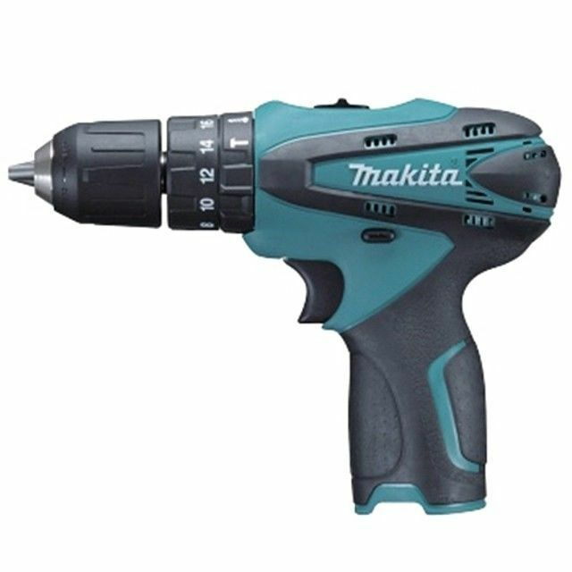 """MAKITA Cordless Charged Hammer Driver Drill HP330Z Body Only 10mm 3/8"""" 10.8V_VG"""