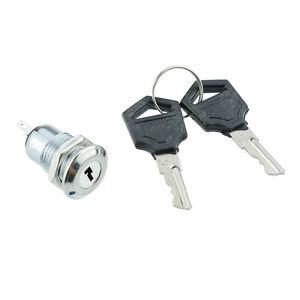 On-Off-Metal-Security-Key-Switch-Lock-Keys-2-Position-SPST-12V