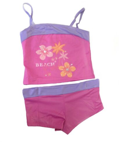 Girls Ladies Womens 2 PC Matching Tankini With Shorts Sequin Swimwear Set Size