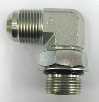 Brennan Straight Adapter 1//2 in Male JIC 37/° Flare x 1//2 in Male O-Ring Boss Steel 81 Units