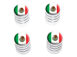 Mexico-Mexican-Flag-Tire-Rim-Wheel-Valve-Stem-Caps-Aluminum