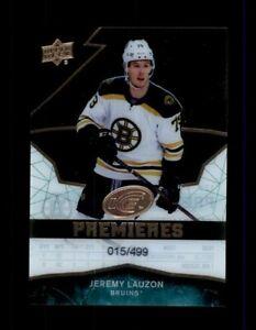 2018-19 Upper Deck Ice #123 Jeremy Lauzon 015/499 RC Rookie (R1246)
