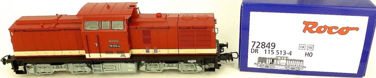 Roco 72849 Dr 115 513-4 Locomotive Diesel Digital Sound H0 1 87 Ovp Neuf Hi4