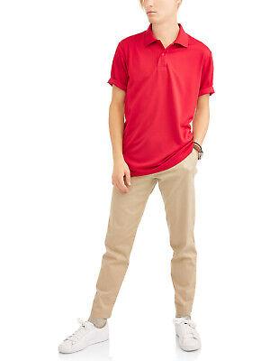 10-12 Wonder Nation Boys School Uniform SS Performance Poly Polo Shirt 8 14-16
