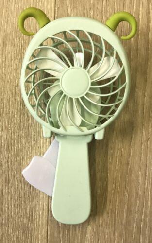 Simpatico cartone animato a mano ventilatore a pressione Mini Ventilatore portatile bambino manuale di tipo PUSH