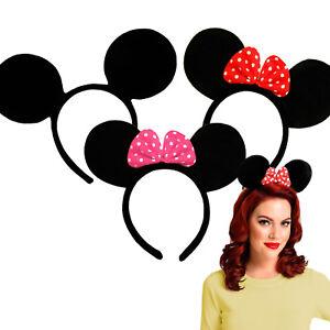 Filles Cartoon Mouse Oreilles Serre-tête-filles & Femmes Fancy Dress Accessoires-afficher Le Titre D'origine
