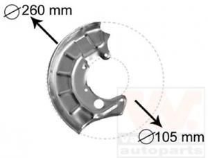 Bremsscheibe für Bremsanlage Vorderachse VAN WEZEL 5810371 Spritzblech