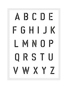 Buchstaben Schablone Buchstaben Alphabet ABC 857633