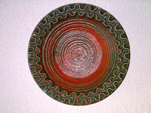 Wandteller-Wall-Plate-FAT-LAVA-Red-Black-Rot-Schwarz-LAVA-LOVER-60s-70s-D-30-cm