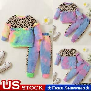 NewBorn Baby Girls Long Sleeve Sweater Tops Trousers Pants Clothes Outfits Sets