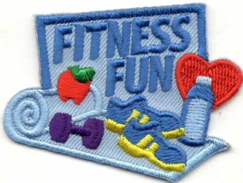 FITNESS FUNj Iron On Patch Gymnastics Exercise Sports
