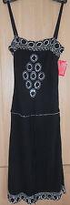 NWT Kit Black & Silver Diamante Detail Cocktail Evening Dress size M