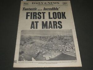 f21ad23b981 1976 JULY 21 NEW YORK DAILY NEWS NEWSPAPER - FIRST LOOK AT MARS - NP ...