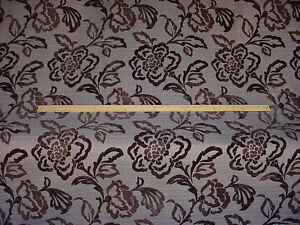 17-y-BEAUTIFUL-STROHEIM-ROMANN-FLORAL-STEM-DAMASK-CHENILLE-UPHOLSTERY-FABRIC