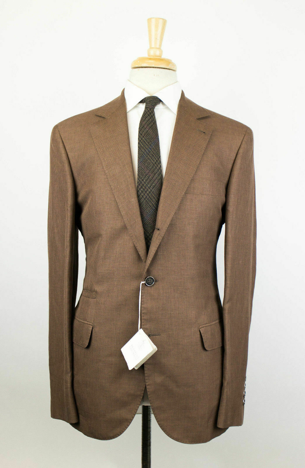 cf1ba662cd80fd NWT NWT NWT BRUNELLO CUCINELLI Brown Wool Blend Unstructured 3 2 Sport Coat  50 40R 975287
