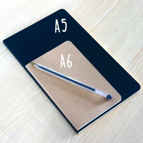 Personalised Moleskine notebook in A5 or A6 with personalised initials.