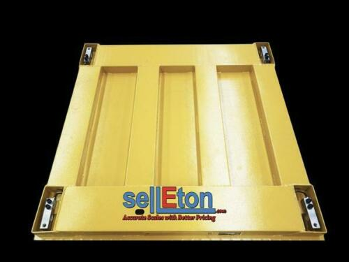 """Scale Pallet Industrial Warehouse 10000 Lbs X 1 Lb Stg  48/"""" X 48/"""" X 4/"""""""