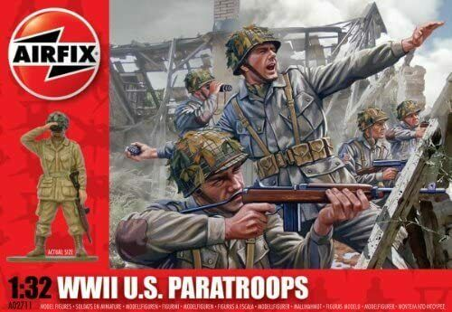 Airfix A02711 WWII US Paratroopers 1:32 Scale Series 2 Plastic Figures by Airfix