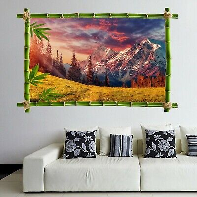 Alps Lake Swans Wall Art Stickers Mural Decal Print Home Office Decor HK11