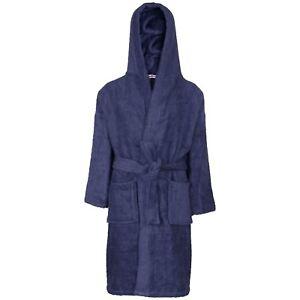 bd953b77fbaf4 Kids Boys Girls Cotton Soft Terry Hooded Bathrobe Luxury Dressing ...