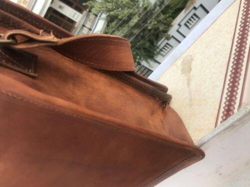 Men/'s Genuine Vintage Leather Satchel Messenger Handbags Laptop Briefcase Bag