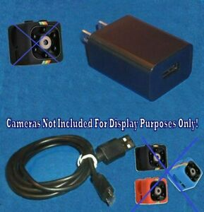Cop-Cam-Door-Ring-Video-Camera-Power-Supply-Adapter-Wall-Charger-3-039-M-USB-Cable